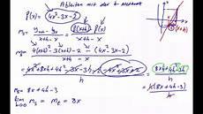 steigung mit der h methode berechnen diffentialquotient