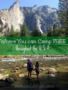 places you can c for free within the united states in a tent or an rv some have a small fee