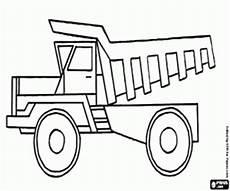 ausmalbilder ein kipper lkw im bergbau verwendet zum