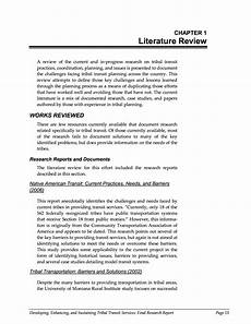 chapter 1 literature review developing enhancing and