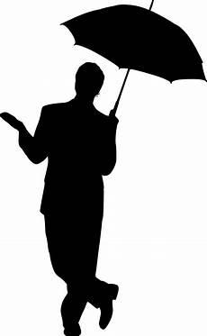 Le Frau Mit Schirm - silhouette umbrella free vector graphic on pixabay