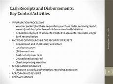 cash receipts disbursements key control activities youtube