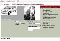 service manuals schematics 2010 toyota sienna parking system toyota sienna gsl20 23 25 service repair manual ewd 2008 2010 service manual download