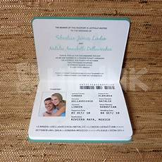 Passport Wedding Invitations Template