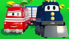 carl der transformer truck und der zug in car city auto