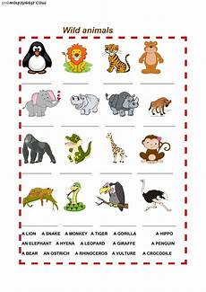 animals and their worksheets 14100 animals interactive worksheet