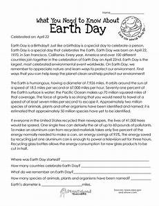 earth science reading comprehension worksheets 13265 what you need to about earth day earth day worksheets reading comprehension worksheets
