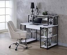 home office computer desk white amiel 92879 acme modern