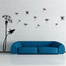 home decor decals dandelion flower removable wall decal vinyl stickers