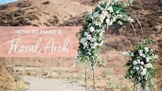 diy floral wedding arch youtube
