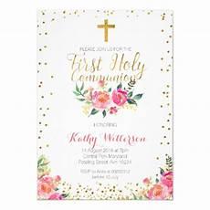 carte invitation communion floral holy communion invitation zazzle