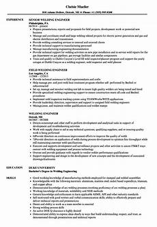welding engineer resume sles velvet
