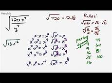 simplify fractional radical with variables youtube