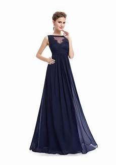 langes abendkleid mit spitze in blau