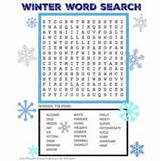 winter word search worksheets printables scholastic parents