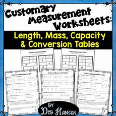 customary measurement length worksheets 1514 customary measurements worksheets length weight capacity conversion tables