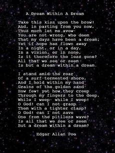 a dream within a dream by edgar a poe poem edgar allen poe poe
