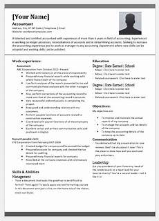 senior accountant resume template for word word excel