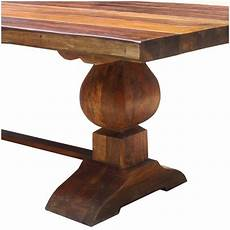 Rustic Trestle Dining Room Tables large rustic reclaimed wood trestle pedestal dining