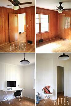 Decorating Ideas Painting Wood Paneling by Paint Wood Paneling On Wood Paneling Makeover