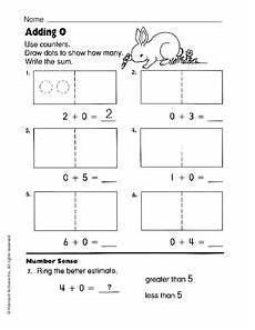 adding zero worksheet for pre k 1st grade lesson planet