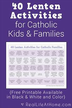 40 lenten activities for catholic families free printable