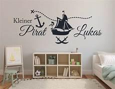 Wandtattoo Name Kinderzimmer Baby Jungen Piratenschiff