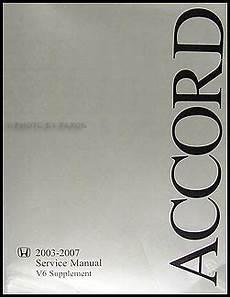 car maintenance manuals 2007 honda accord regenerative braking 2003 2007 honda accord v6 repair shop manual supplement original