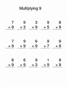 multiplication worksheets up to 9 4629 multiply by 9 worksheets activity shelter