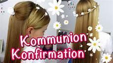 Kommunion Frisur Mädchen - konfirmation kommunion frisuren klassisch einfach und