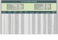 Monthly Schedule Template  Amortization