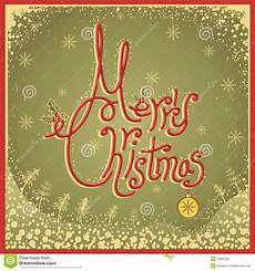 merry card with text vintage vector illu stock