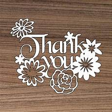 thank you papercut template cutting file thank you