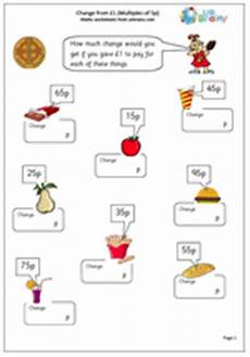 money worksheets ks2 giving change 2208 year 2 maths worksheets change from 163 1 2 urbrainy