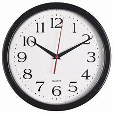 White Quartz Black Wall Clock by Galleon Bernhard Products Black Wall Clock Silent Non