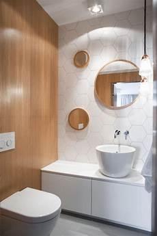 Mini Gäste Wc - wabenfliesen dekorativ und modern im modernen bad
