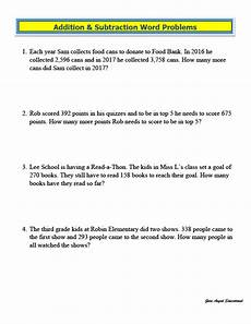 addition and subtraction word problems worksheets grade 3 9210 printables of word problems addition and subtraction 3rd grade geotwitter activities
