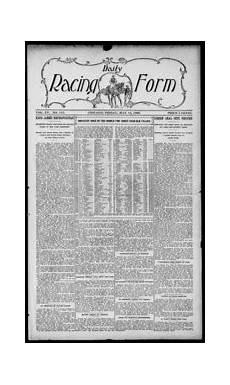 daily racing form n friday may 28 1909 daily racing form free download borrow and