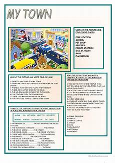 places in town writing worksheets 16040 my town worksheet free esl printable worksheets made by teachers