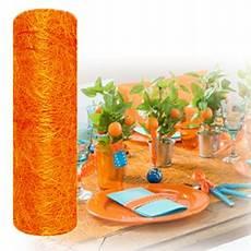 Chemin De Table Mariage En Abaca Orange Abaca Orange Pas Cher