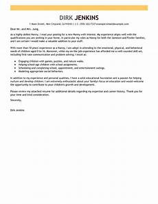 leading professional nanny cover letter exles resources myperfectcoverletter