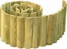 bordure demi rondin bois stelmet 150 x h 15 cm castorama