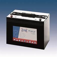 ctm wartungsfreie agm batterie bleiakku ctl80 12 12 volt