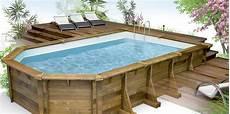 piscine semi enterrée bois prix piscine semi enterre pas cher