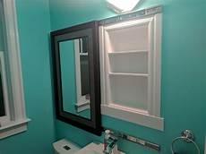 spiegelschrank in wand eingelassen i made a recessed medicine cabinet a sliding