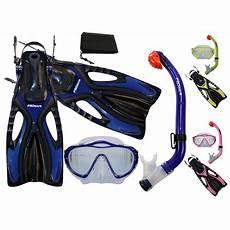 promate snorkeling scuba diving mask dry snorkel fins gear for kids ebay