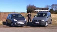 kia venga vs vw caddy 2011 test familieflyttere