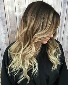 Haare Ombre - ombre blond braun spitzen lange haare locken in 2019