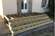 Plancher Bois Pour Terrasse Structure Terrasse Bois Avec Marches Baty R Le Bois