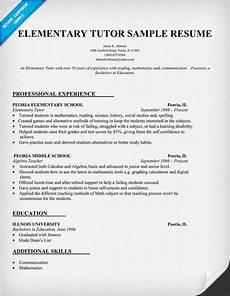 resume exles for elementary tutor teacher teachers